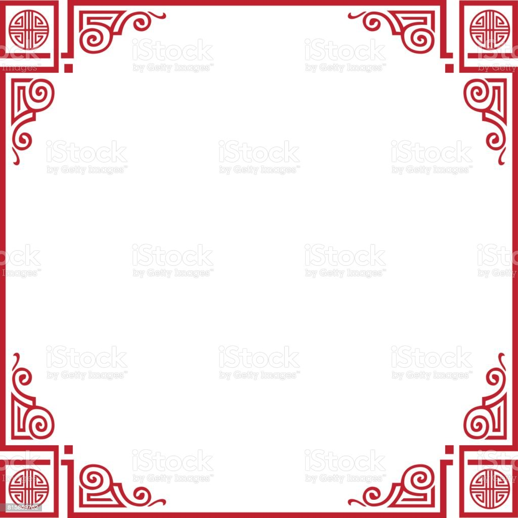 Chinese New Year Frame Stock Vector Art More Images Of