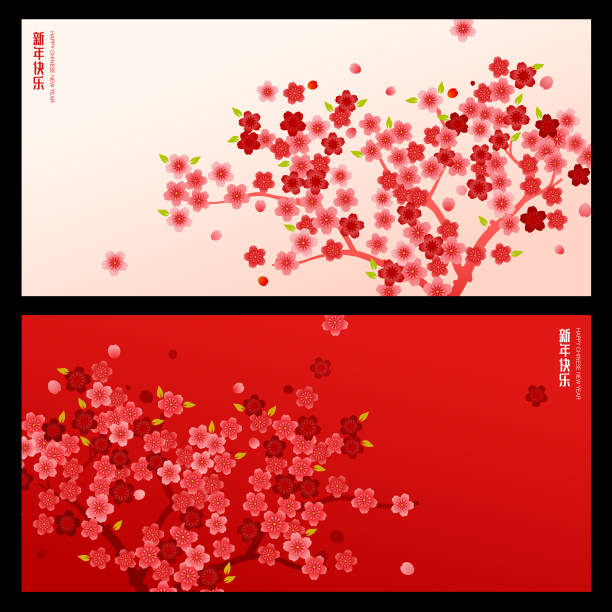 Chinese new year graphic design Chinese new year graphic design. Eps come with layer plum blossom stock illustrations