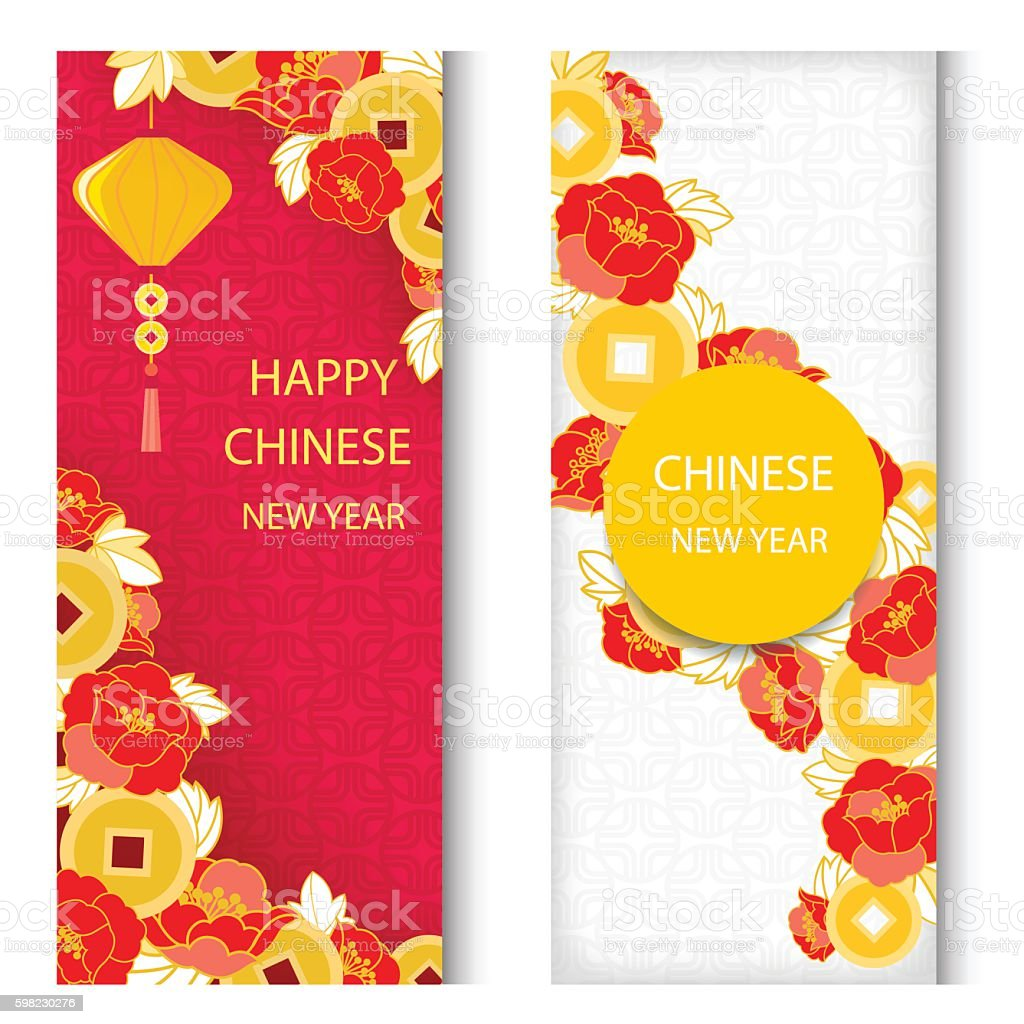 Chinese New Year Greeting Card Stock Illustration ...