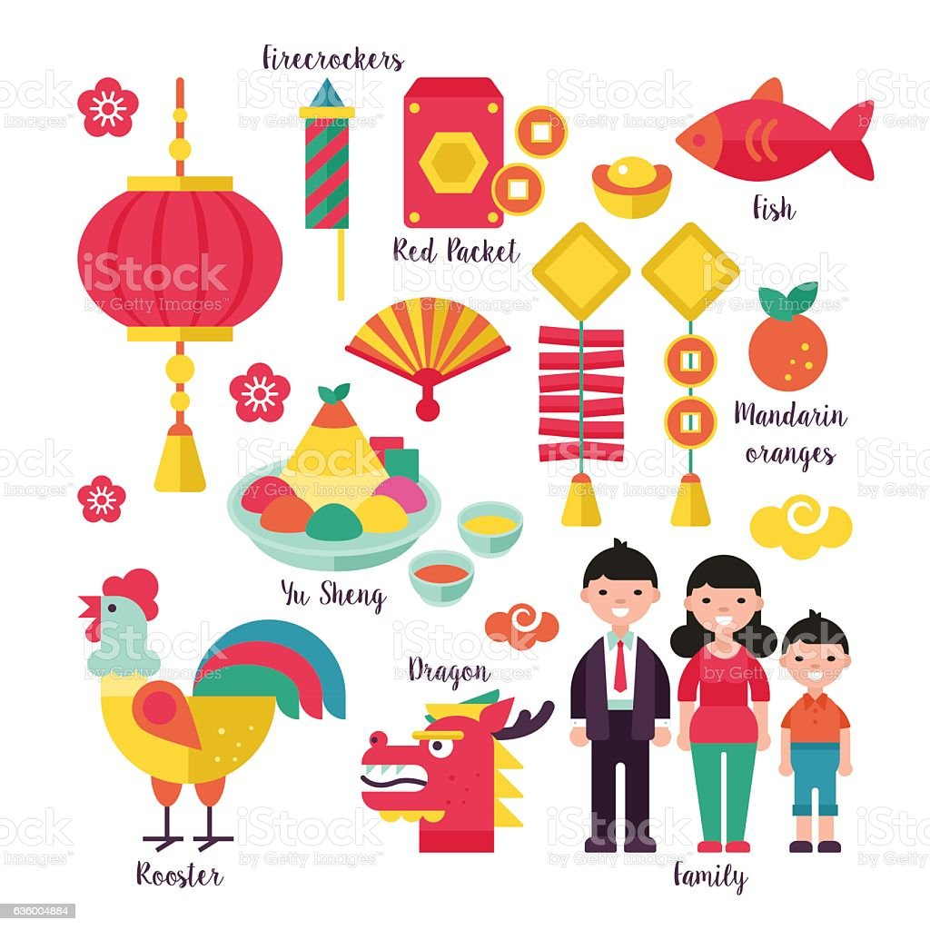 Chinese New Year Holiday Traditions Concept Stock ...