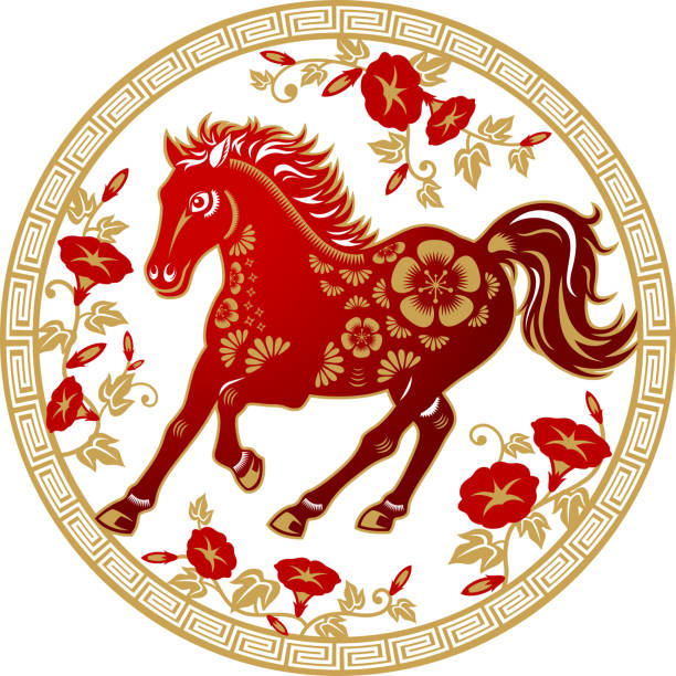 Royalty Free Chinese New Year Horse Clip Art, Vector ...