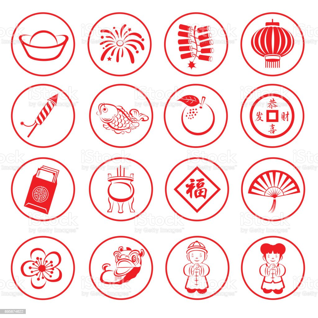 Chinese New Year icon royalty-free chinese new year icon stock vector art & more images of abundance