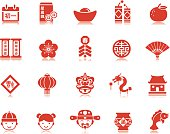 Pictogram (pictogramme) style Chinese New Year icons for your professional design services.