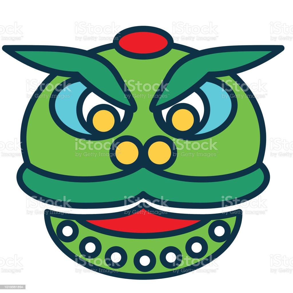 chinese new year line icon dragon royalty free chinese new year line icon dragon stock