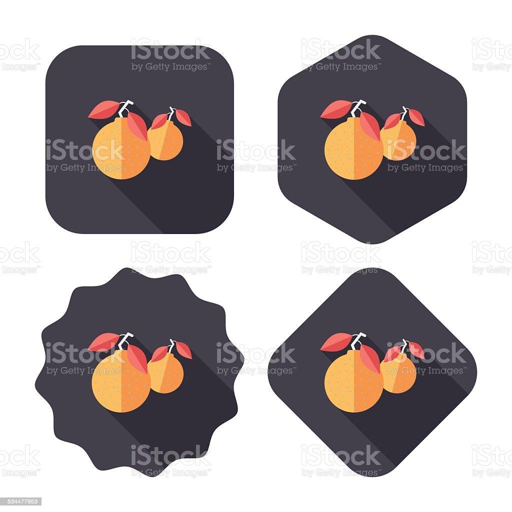 Chinesisches Neujahr Mandarinorangen Flache Symbol Eps10 Stock ...