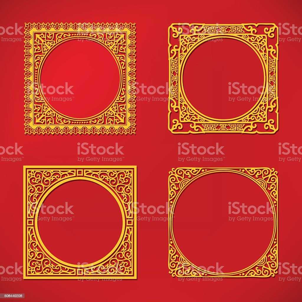 Chinese new year pattern frame stock vector art more images of chinese new year pattern frame royalty free chinese new year pattern frame stock vector art jeuxipadfo Image collections
