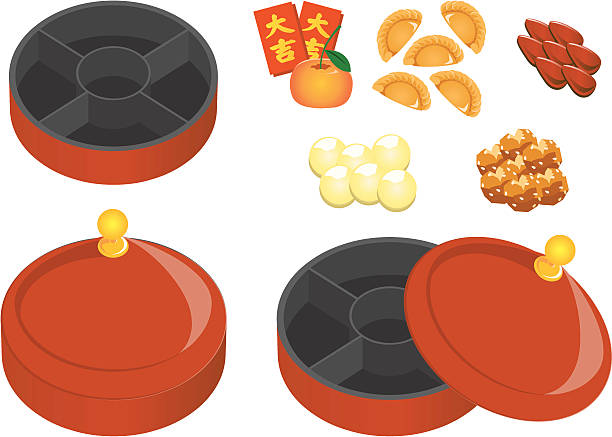 Top Chinese New Year Food Clip Art, Vector Graphics and ...