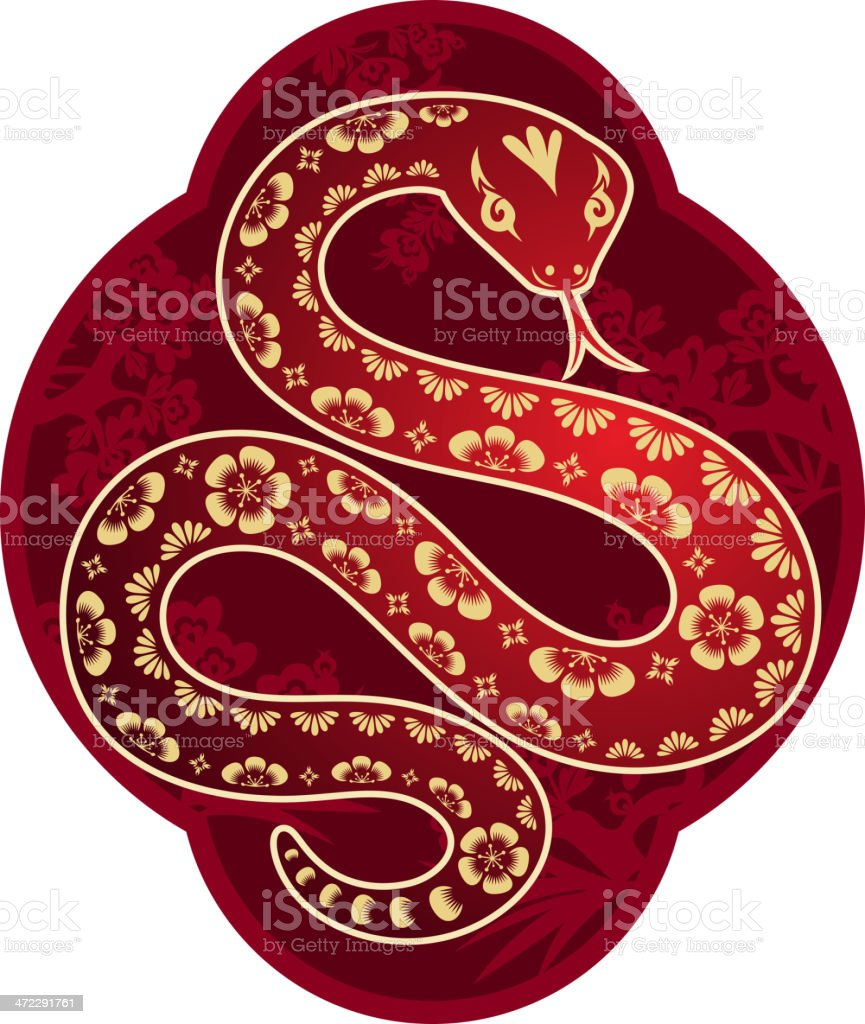 Chinese New Year Snake Art royalty-free stock vector art
