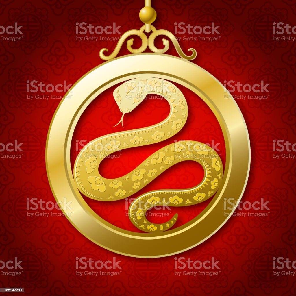 Chinese New Year Snake Coin royalty-free stock vector art