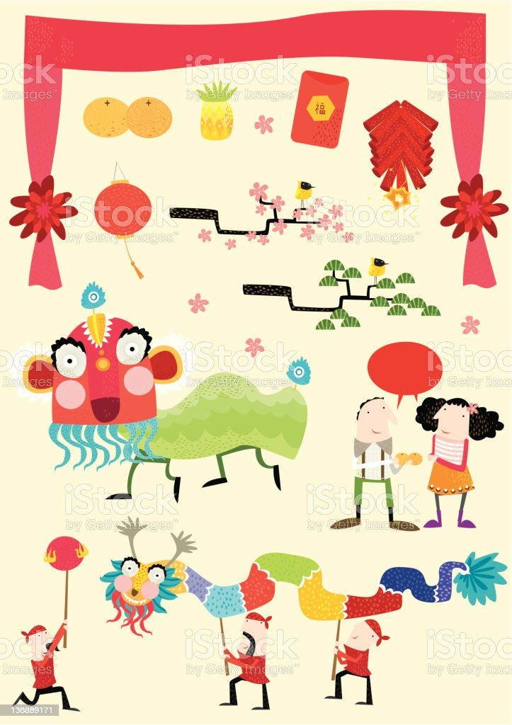 chinese new year royalty-free chinese new year stock illustration - download image now