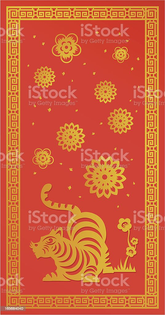 Chinese New Year ( Tiger ) royalty-free chinese new year stock vector art & more images of animal markings