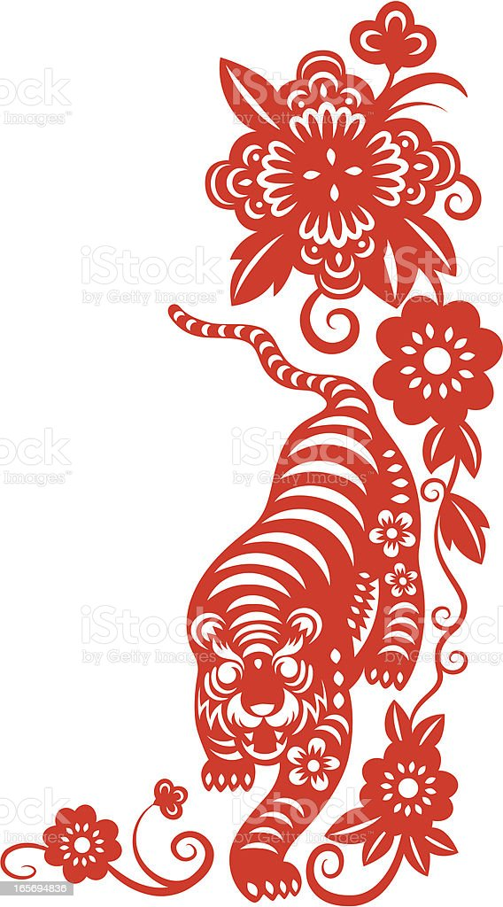 Chinese New Year ( Tiger ) royalty-free stock vector art