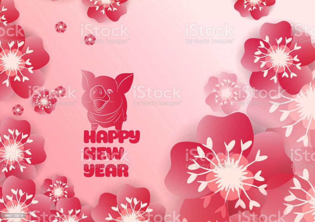Decoration De 2019 Du Nouvel An Chinois Pour La Fete Des Fleurs