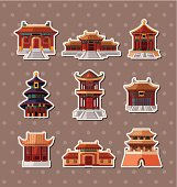 Chinese old Building stickers