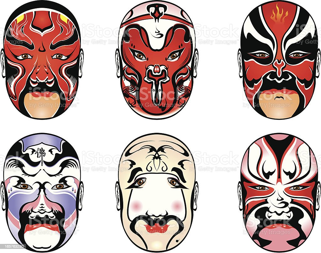 Chinese Opera Masks Stock Illustration Download Image Now Istock