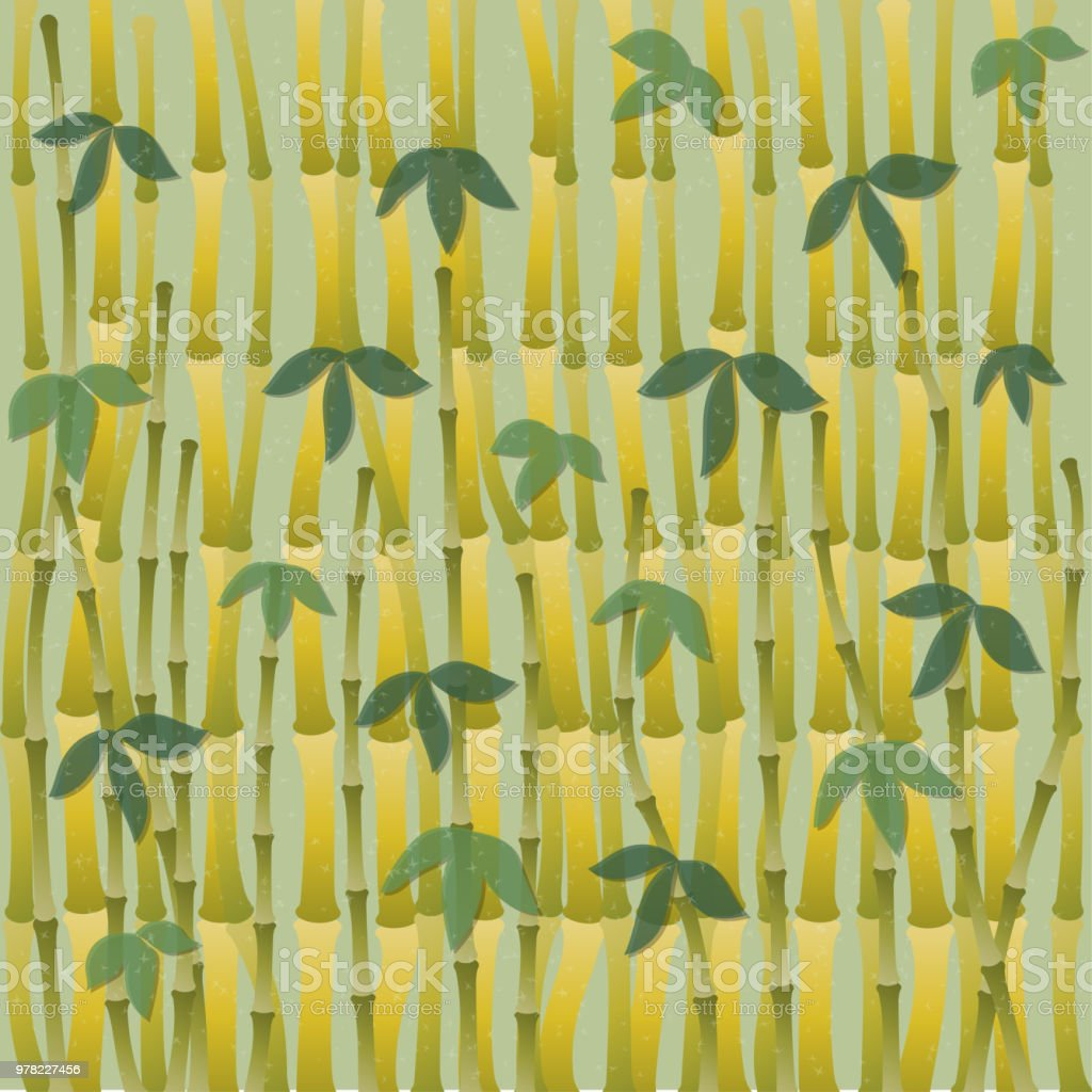 Chinese Or Japanese Bamboo Grass Oriental Wallpaper Tropical Asian Plant Background Stock Illustration Download Image Now Istock