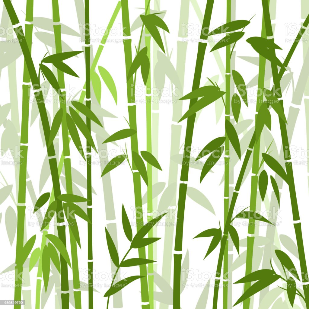 Chinese or japanese bamboo grass oriental wallpaper vector illustration vector art illustration