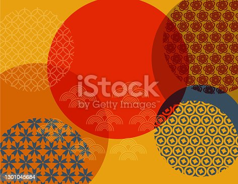 istock Chinese Oriental traditional seamless pattern background 1301045684