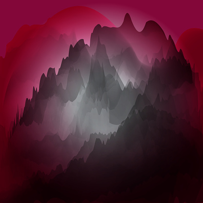 Chinese painting mountain pattern background for design