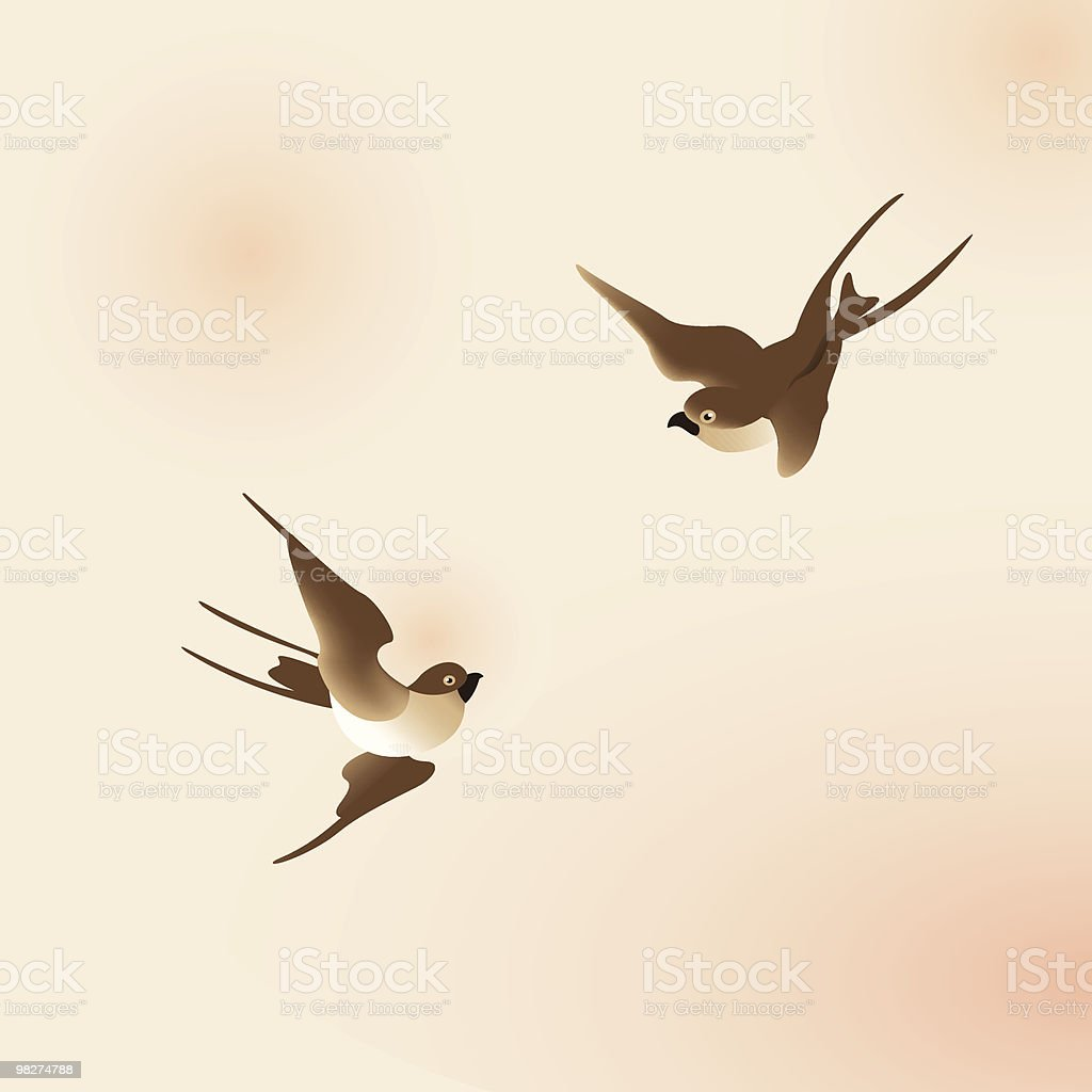 Chinese painting style swallows royalty-free chinese painting style swallows stock vector art & more images of bird
