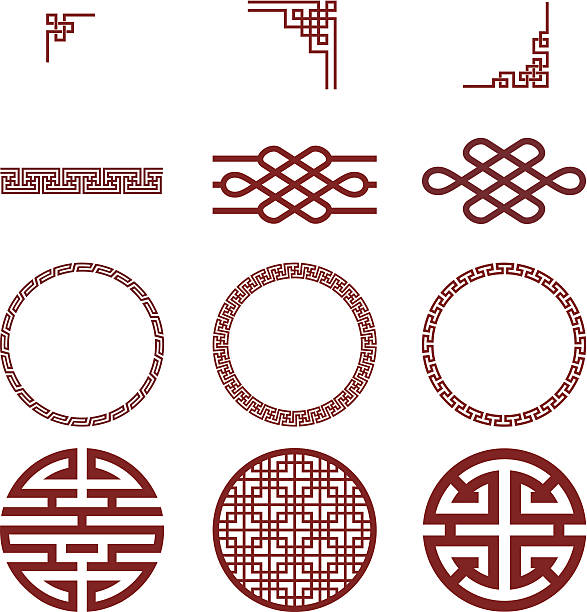 Chinese paper and traditional pattern Chinese paper and traditional pattern. china stock illustrations