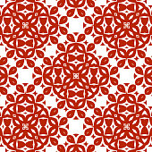 Chinese paper cut style floral pattern background