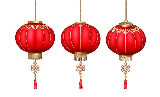 bildbanksillustrationer, clip art samt tecknat material och ikoner med kinesiska papperslyktor - rislampa