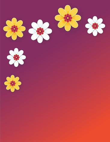 Chinese Papercut Flowers Background