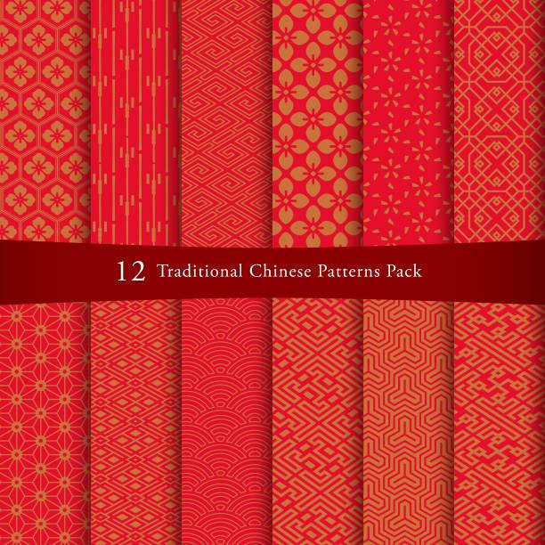 中国のパターン セット - 中国点のイラスト素材/クリップアート素材/マンガ素材/アイコン素材
