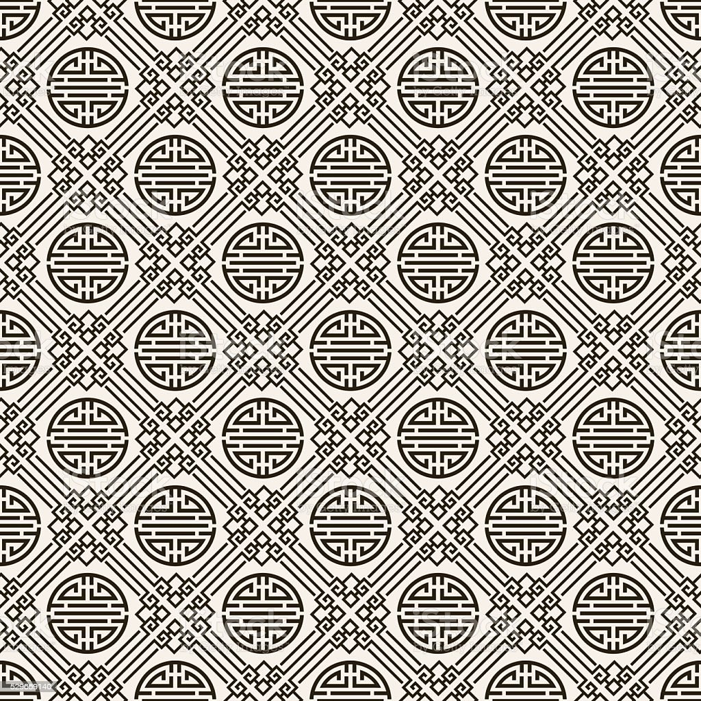 Motif chinois illustration vectorielle de papier peint for Papier peint motif chinois