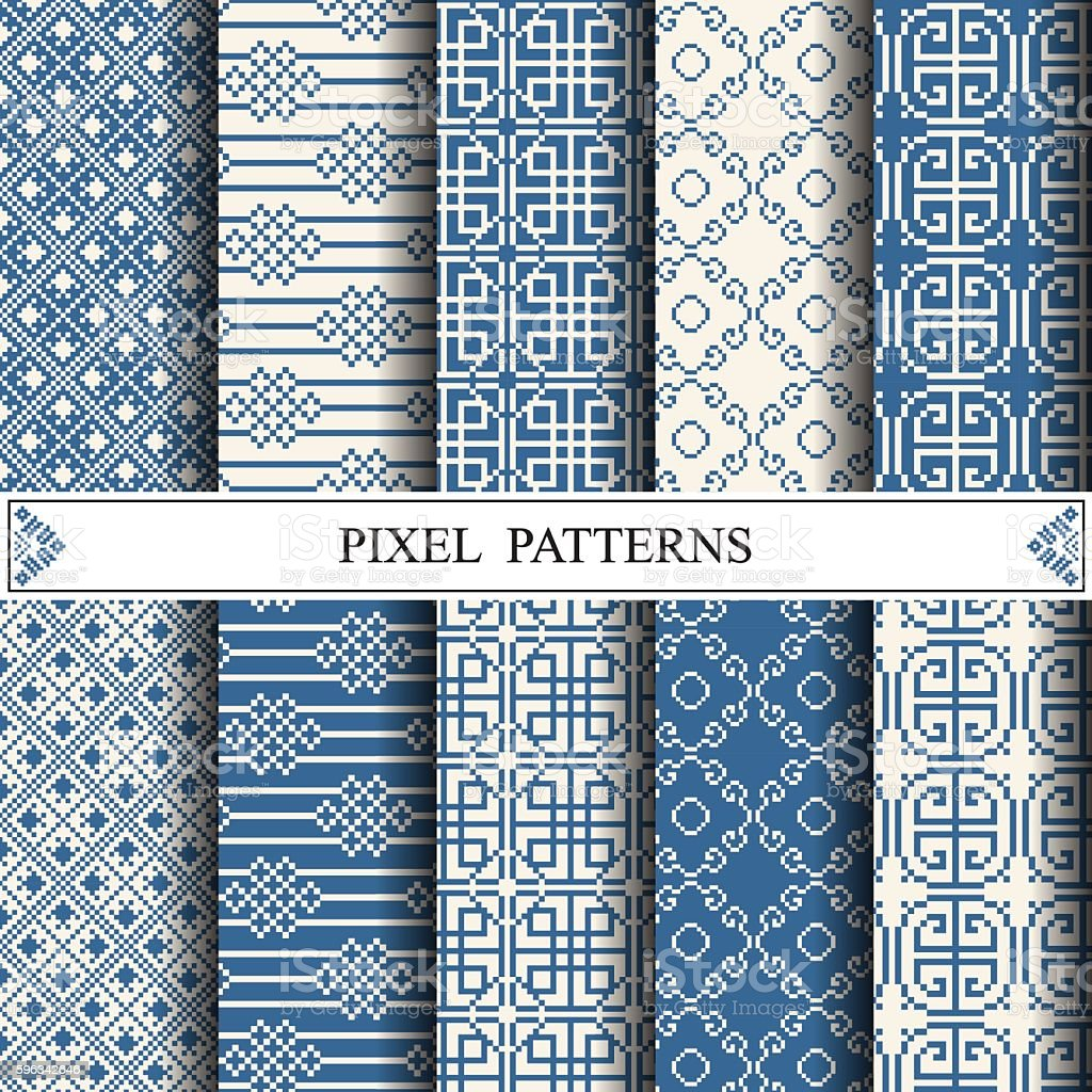 chinese pixel pattern, textile, web page background, surface tex royalty-free chinese pixel pattern textile web page background surface tex stock vector art & more images of abstract