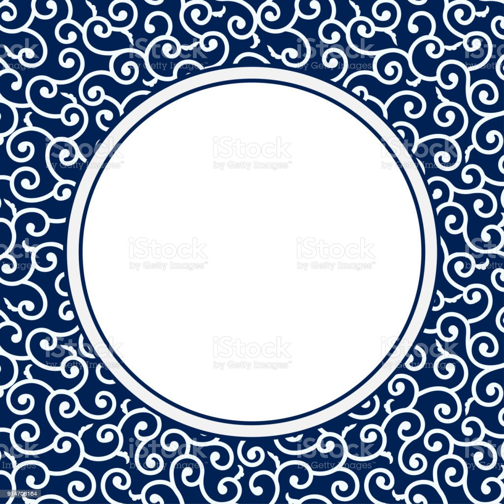 Chinese Porcelain Style Background vector art illustration