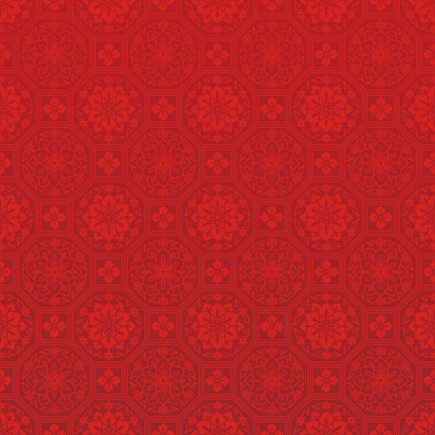 chinese red background. - китайский новый год stock illustrations