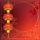 Chinese New Year red lantern