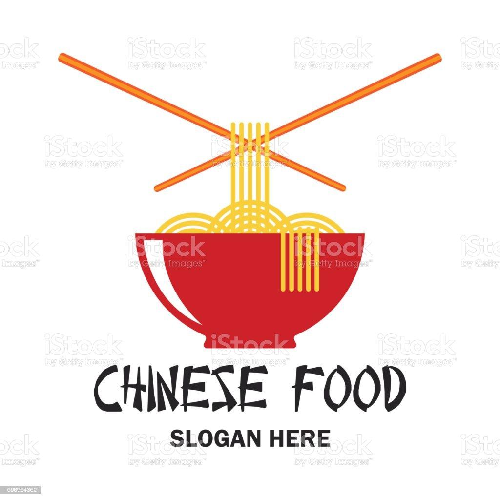 Ilustración de Restaurante Chino Icono De Comida China Con