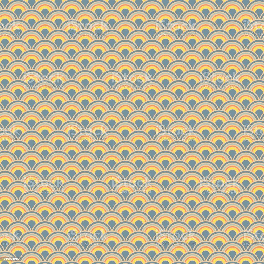 Chinese seamless pattern with curly lines background chinese seamless pattern with curly lines background - immagini vettoriali stock e altre immagini di acqua royalty-free