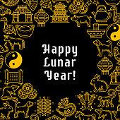 Chinese spring Lunar Year greetings