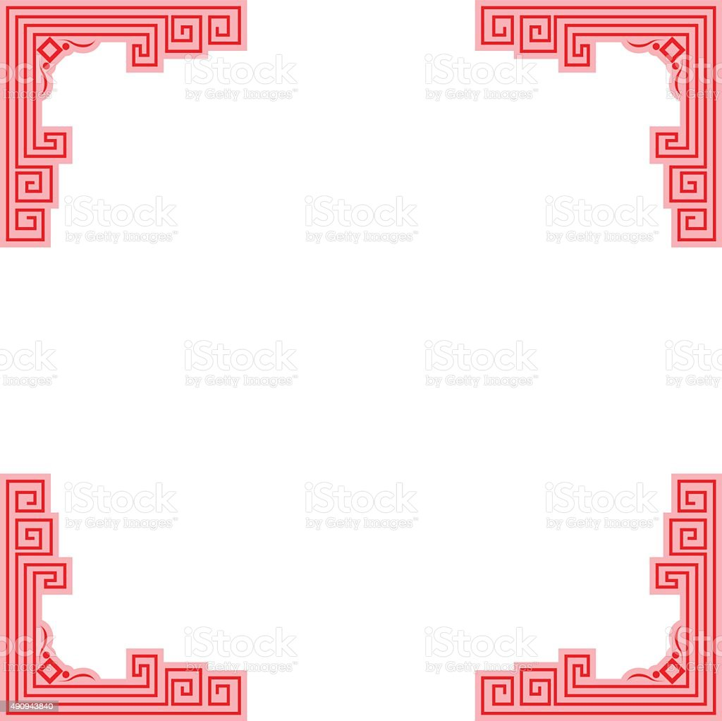 Chinese Stoke Red Border Frame Stock Vector Art & More Images of ...