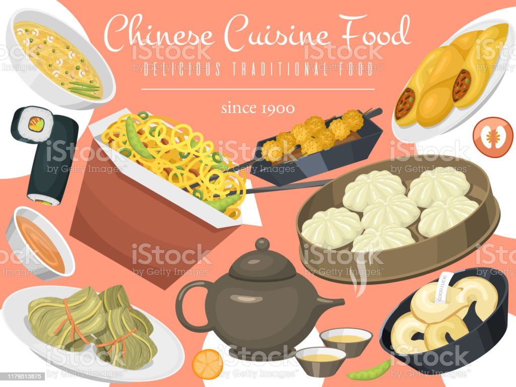 Chinese Street Restaurant Or Homemade Food Ethnic Menu Vector I Stock Illustration Download Image Now Istock