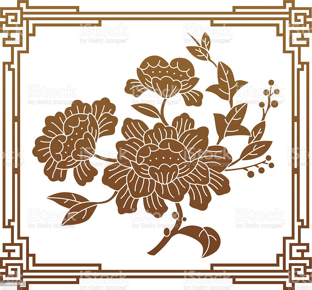 Chinese Style Flower Graphic Stock Vector Art & More Images of ...