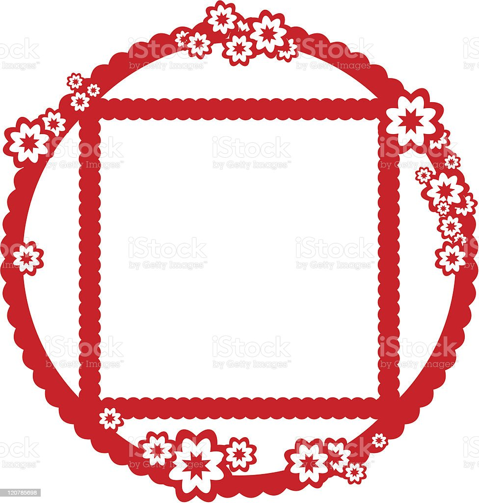 Chinese style frame royalty-free stock vector art