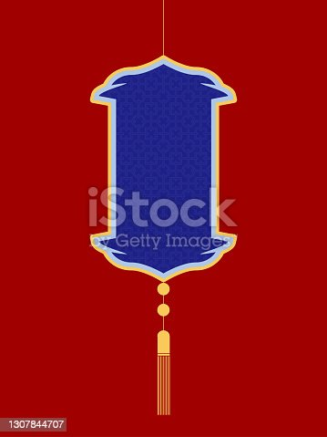 istock Chinese Style Red Retailing Hang Tag Template 1307844707