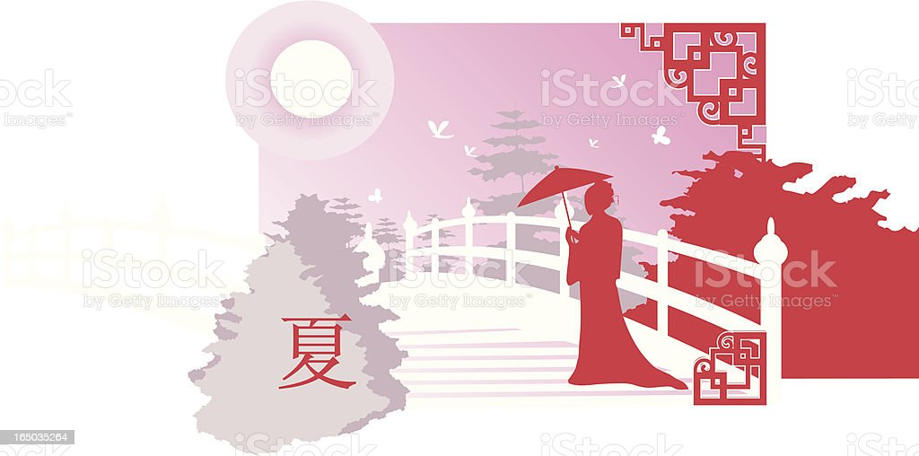 Chinese summer royalty-free stock vector art
