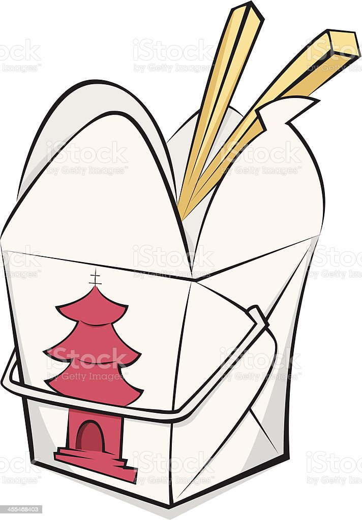 Boîte à emporter chinois - Illustration vectorielle