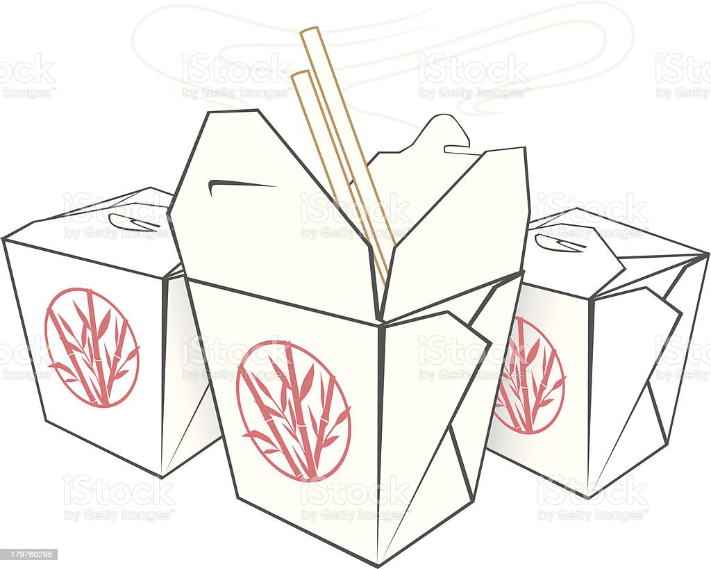 Chinese Takeout royalty-free stock vector art
