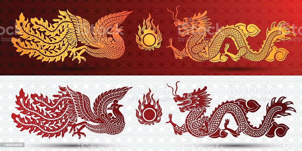 中国語テンプレート ベクターアートイラスト