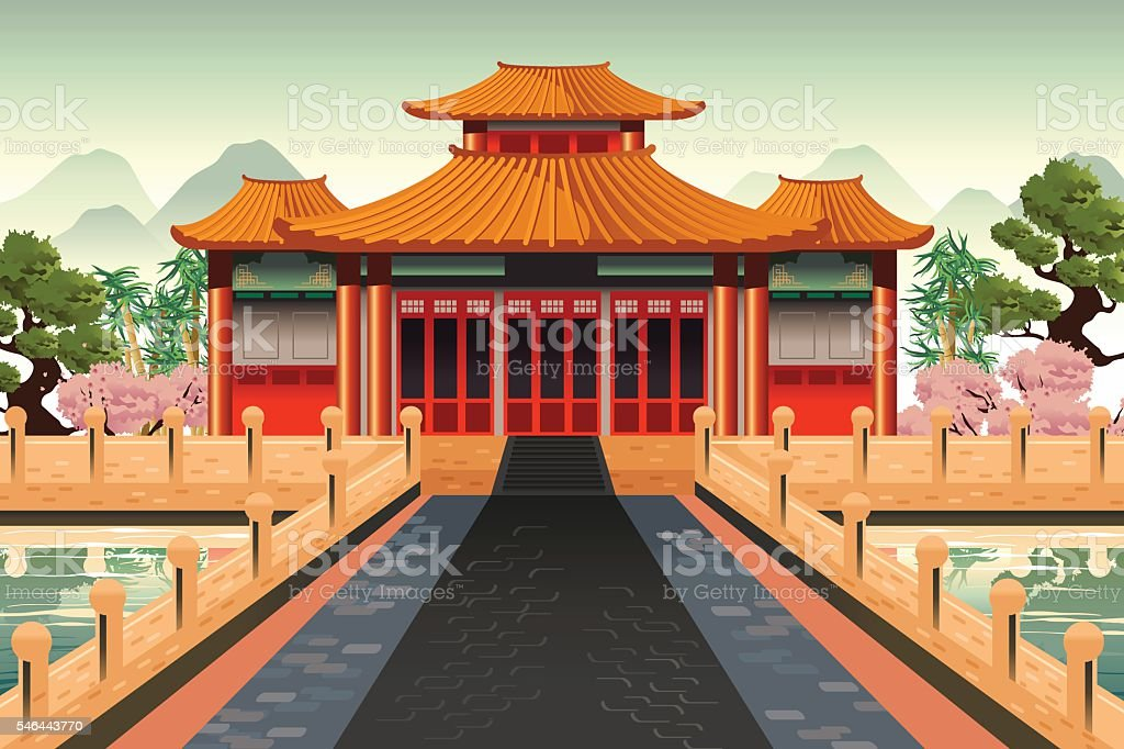 Chinese Temple Background