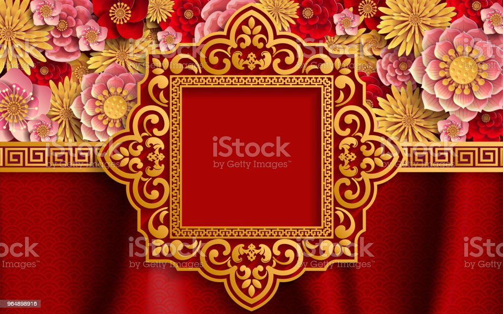 Chinese traditional and asian elements background template on paper color Background. royalty-free chinese traditional and asian elements background template on paper color background stock vector art & more images of 2019