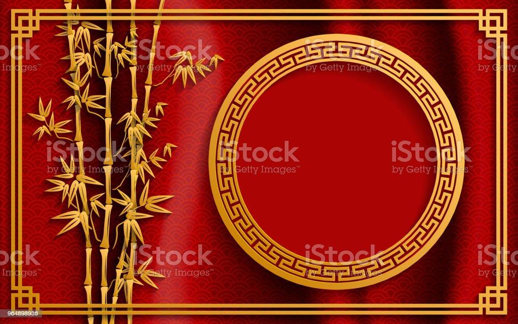 中國傳統和亞洲元素背景範本的紙張顏色背景。 - 免版稅2019圖庫向量圖形