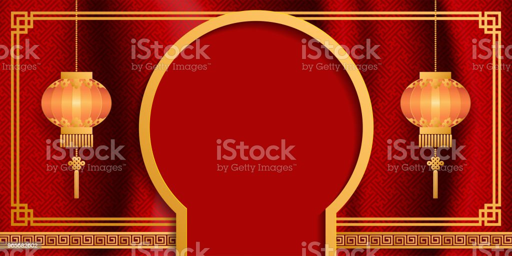 chinese traditional and asian elements background template on paper